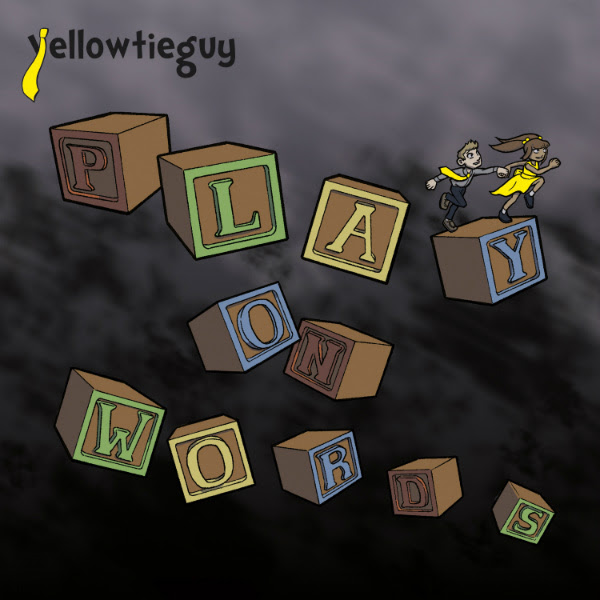 Yellow Tie Guy POW Play On Words album cover art by Joan Cooke POW